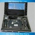 Бесплатные DHL SLX24 beta58 UHF профессиональный портативный микрофон беспроводной микрофон с черным алюминиевые окна