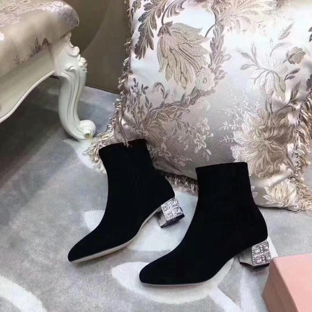 As De Bout Show Mode Sur Bottes as Feminina Nouveau Rond Show Mujer Zapatos Botas Botines Genou Bota Doux Femmes Chaussures Cristal Bling Hx7gYUwqSH