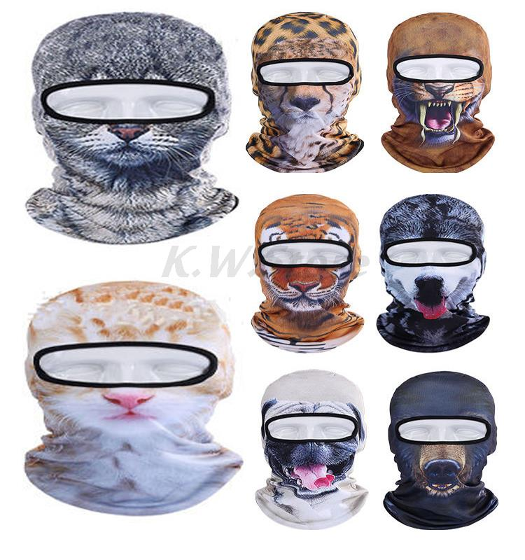 Outdoor Sports Cycling Bicycle Motorcycle Cap Dog Tiger Leopard Animal Hood Hat Veil Balaclava Uv Wind 3d Face Mask Multicolor topeak outdoor sports cycling photochromic sun glasses bicycle sunglasses mtb nxt lenses glasses eyewear goggles 3 colors