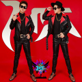 S-3XL Red black Motorcycle rivet men fashion slim leather clothing BIGBANG male singer DJ GD zhi-long same style costumes jacket