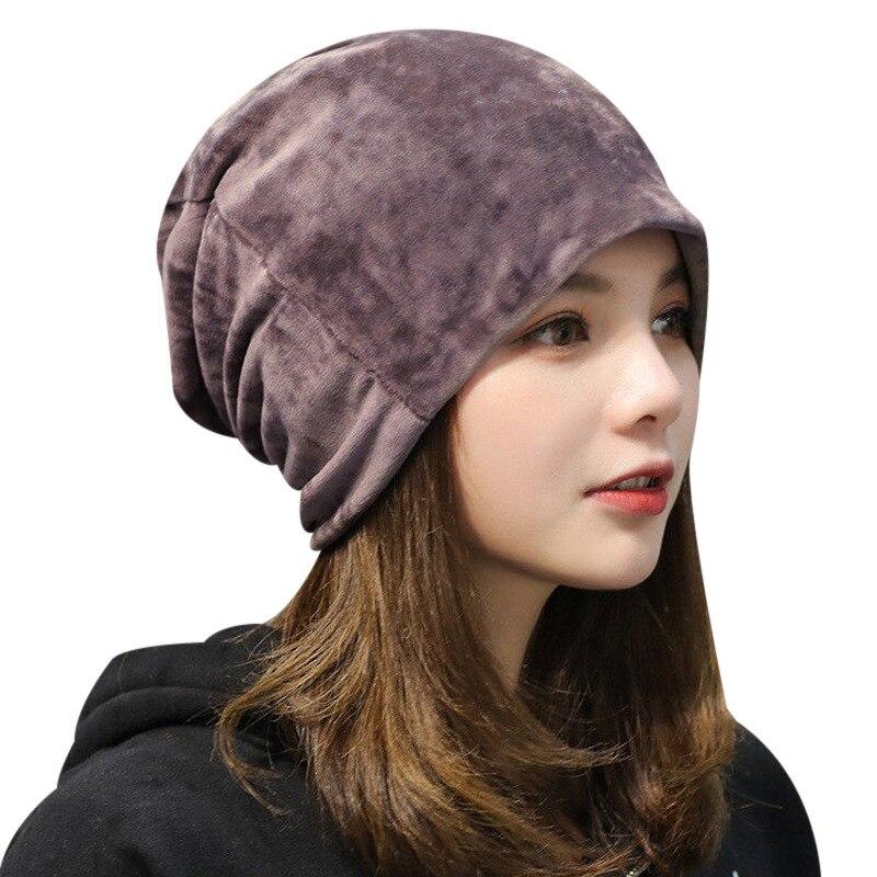Warm Fleece Slouchy Beanie Hats For Women 2018 Winter Caps Ladies Velvet Skullies Beanie Gorro Female Baggy Hat Bonnet Femme beanie