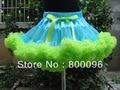 Оптовая продажа принцесса детей пачка дети синий и зеленый с бантом малыш пачки из юбки девушки PETS-041
