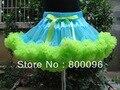 Venta al por mayor princesa Children Tutu dress Kids azul y verde arco Tutus niño de la muchacha de la falda PETS-041