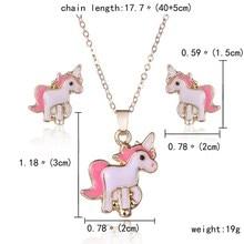 Cartoon Horse Necklace & Earrings Jewelry Set