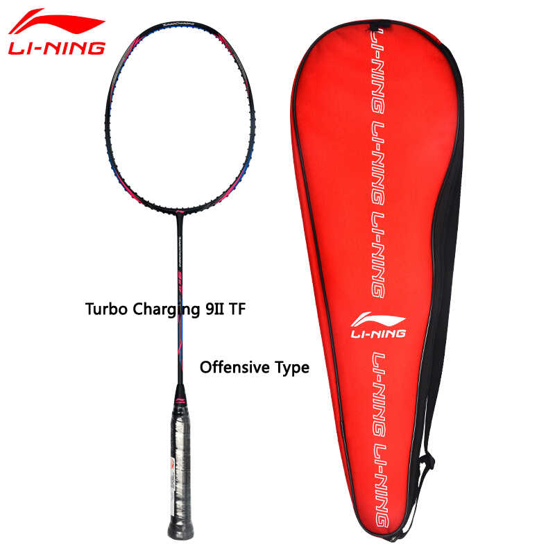 Li-Ning Turbo Charging 9II Daily Professional Badminton Racket Single Racket LiNing Equipment Sports Racket AYPM324
