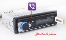 Coches reproductor de radio estéreo bluetooth teléfono aux-in mp3 fm/usb/1 din/control remoto para iphone 12 v audio del coche auto 2017 venta nuevo