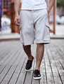 Men loose Cargo shorts brand quick drying men's jogger Solid Elastic Shorts Cotton Casual Shorts Extra Large
