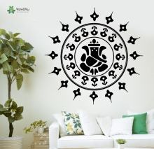 YOYOYU Wall Decal Vinyl Repetable Poster Buddha Ganesha Hinduism Gods Sticker YO078