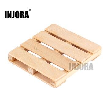 Drewniane miniaturowe wózek widłowy do palet dla 1/10 gąsienica rc oś samochodu Wraith SCX10 90046 TAMIYA CC01 D90 D110 Traxxas TRX-4