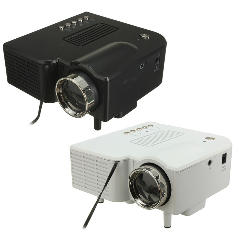 Black/White Digital UG28+ Portable Mini Projector Multimedia Cinema Theater Digital UG28+ LCD LED Projector Home Business beamer  цена
