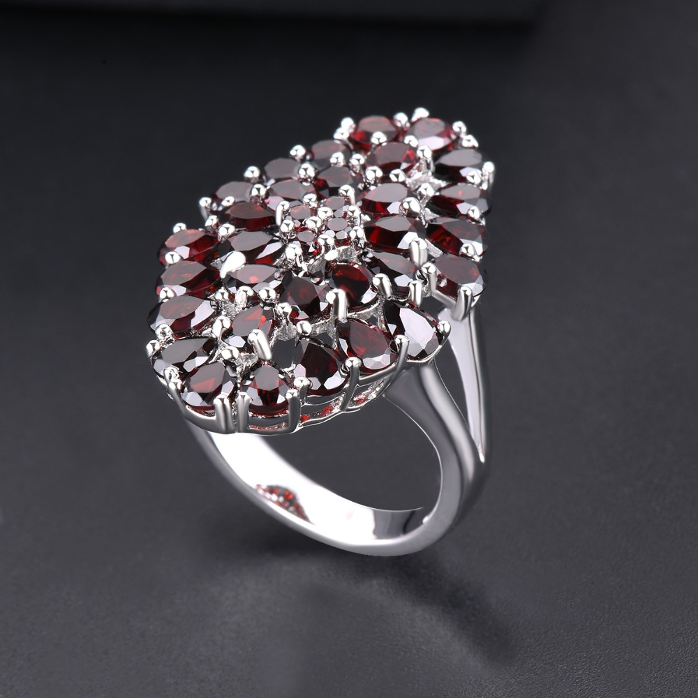 fd2463976 Hutang 6.6ct Garnet Wedding Ring Natural Gemstone 925 Sterling Silver  Flower Rings Fine Elegant Jewelry for Women Best Gift New - aliexpress.com  - imall.com