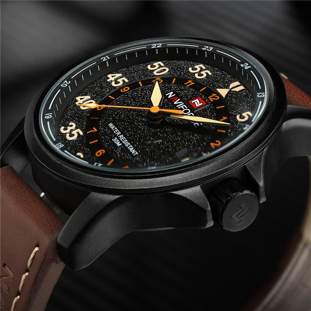 639f5f1c7d1 NAVIFORCE Men Watch Military Sport Mens Watches Top Brand Luxury Rome Army  Business Date Leather Band Quartz Male Clock New 9076