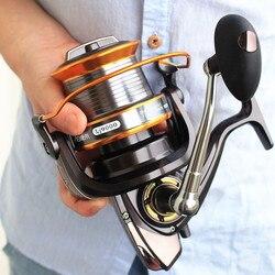 2016 Nuovo Carping Pesca Bobina serie 1000-9000 serie Bobina di Filatura Bobine di Pesca Acqua Salata di Alto Profilo di Lusso peche