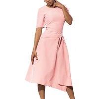 2017 Summer 4XL 5XL 6XL Plus Size OL Office Dresses Women Elegant Solid A Line Big