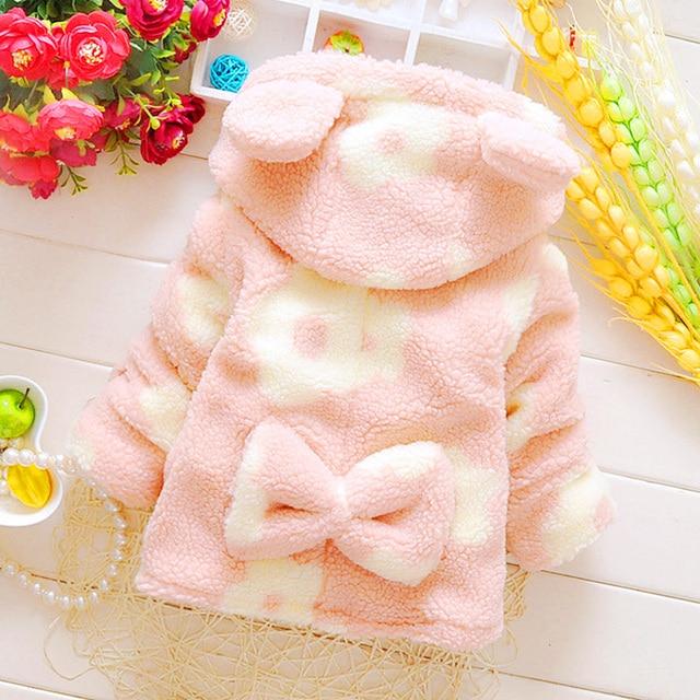 Baby Leopard Coat Warm Padded Jacket Toddler Capes Casacos Polares Menina Newborn Girls Jacket Baby Bolero Infant Poncho 70D046