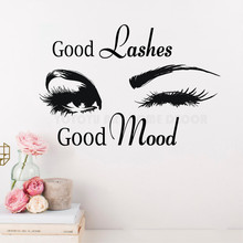 Home Decoration Wall Decal Good Lashes good Mood Eyes Decor Sticker Art Vinyl for Bedroom Inteior Y130