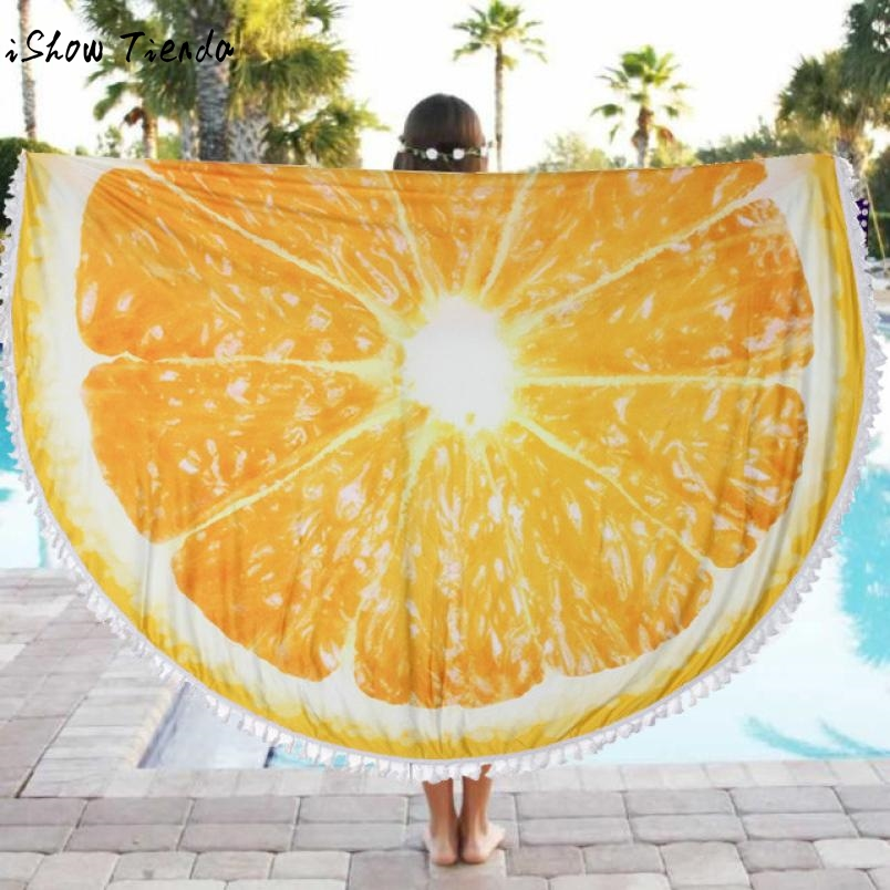 Drop Shipping Beach Cover Up Round Beach Pool Sunbathe Towel Blanket Table Cloth Yoga Mat Beach Dress Drap De Plage