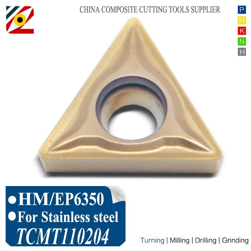 EDGEV 10PCS CNC-hardmetalen wisselplaten TCMT110204 TCMT110208 TCMT2152 Boren Draaigereedschappen Wolfraamblad verspanen SS roestvrij staal
