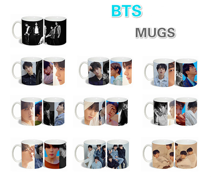 [MYKPOP]bTS Bangtan Boys Love Yourself to Tears Mug Coffee Water Milk Ceramic Cup Creative KPOP Fans Collection SA18061017 creative cake style water coffee milk cup pink black 400ml