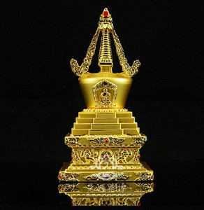 Tibetan Buddhism supplies / copper alloy stupa / Buddha tower / Bodhi tower(China)