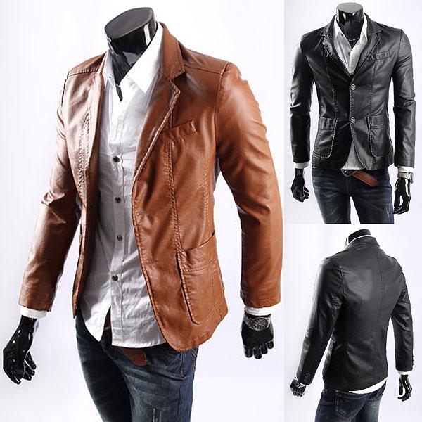 Aliexpress.com : Buy Big size Leather jacket for mens casaul slim