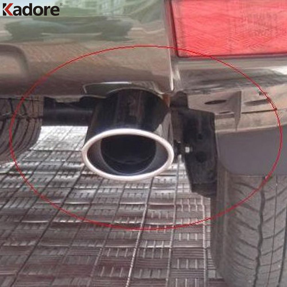 For Toyota Prado J150 FJ120 Stainless Steel Exhaust Muffler Tip Pipe Ends Pipes Silencer Car Deafener Auto Accessories