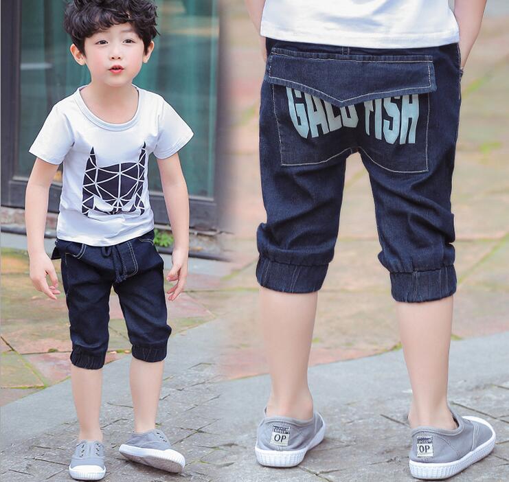 Kids 2017 New Summer Design Dark blue Letter Print Baby Kids Short Pants Boys Shorts Elegant