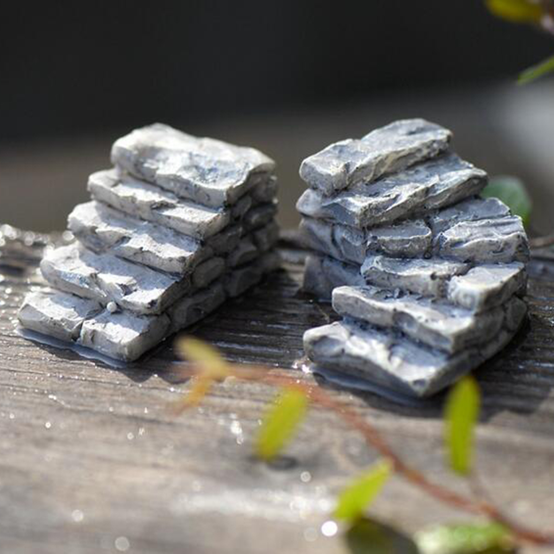 Gray Stone Steps Stair Micro Landscapes Mini Fairy Garden Decoration Moss  Ecological Bottle DIY Decor Ornaments