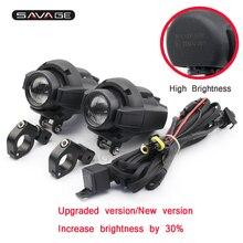 Alto brilho de condução luzes aux cabeça luz para acessórios da motocicleta à prova dwaterproof água nevoeiro montagem da lâmpada fio com cabo suporte