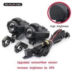 High Brightness Driving Aux Lights Head Light do akcesoriów motocyklowych wodoodporny montaż lampy przeciwmgielnej drut z kablem wspornika