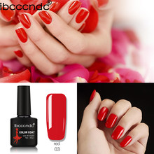 IBCCCNDC Gel Varnish Lacquer Nail Art DIY 80 Colors Varnish Soak off Enamels UV Nail Gel Polish Classic Red 10ml Base Top Coat(China)