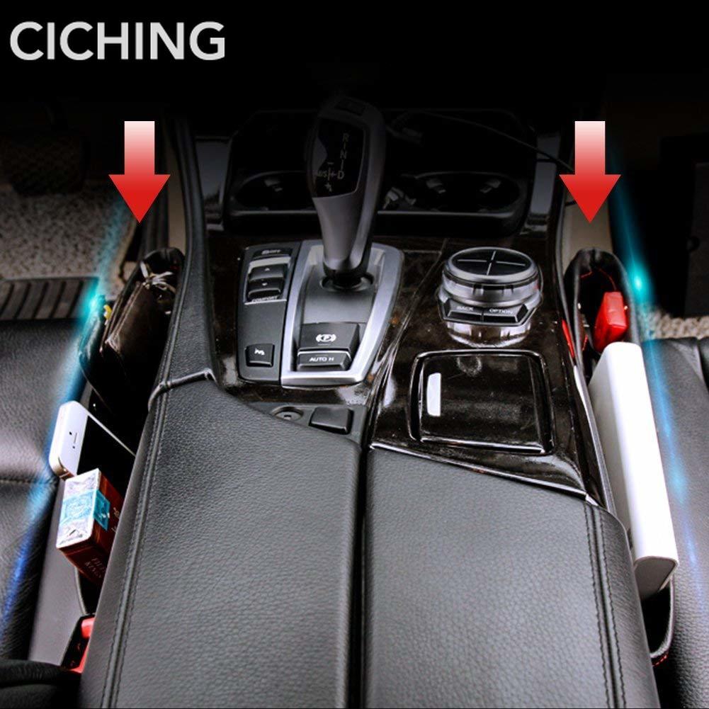 Heart Horse Car Console Side Pocket Seat Slot Storage Box Car Gap Manager Coin Box and 2 USB Sockets