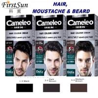 Cameleo Erkekler Saç RENGI BOYA KREM Sakal Bıyık Anti Gri Renk 5 Dak Delia Tarafından Etkisi HIÇBIR AMONYAK Kalıcı Saç Rengi Krem Balmumu