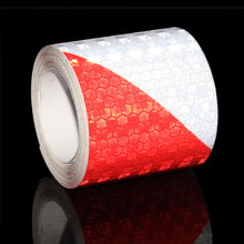 5CMx5M Reflective Safety Warning Reflective Tape Sicker Car Trailer Bicycle Night Reflective Tape Red White Reflector Tape