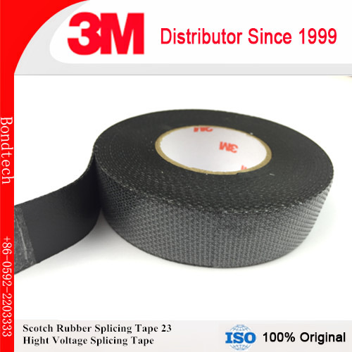 3M 23 Scotch Rubber Splicing Tape, Self-fusing tape, High voltage splicing tape, 3/4inX9.1M/pc, Pack of 1 1 2 x55m pack of 2 3m 232 scotch high performance masking tape for medium temperature paint bake operations