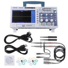 Hantek DSO5102P цифровой осциллограф ЖК-USB 1Gsa/S 100 мГц 17,8 см TFT Ручной Osciloscopio 40 К 2CH
