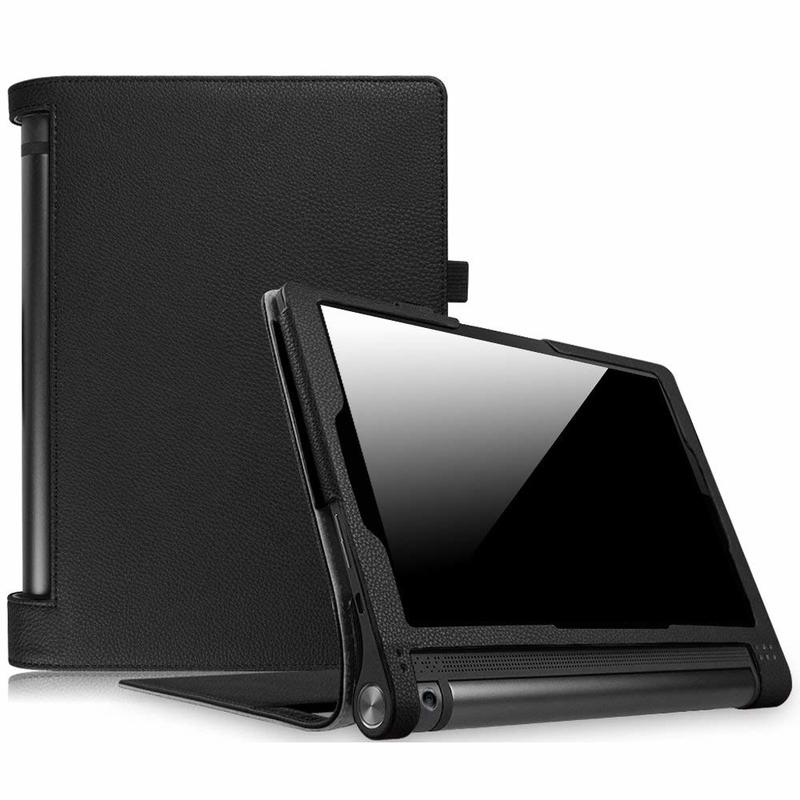 Funda For Lenovo YOGA Tab 3 10.1 Case Foldable Stand litchi Leather Cover For Lenovo YOGA Tab 3 10.1 YT-X50F Tablet Cases Glass