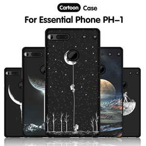 JURCHEN Cartoon Silicone Case For Essential Phone PH-1 Case Soft TPU Cute Back Cover For Essential Products PH-1 PH1 Phone Case(China)