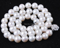 Wholesale cheap high quality new 8-9mm White natural Pearl Necklace AAA woman Fashion Jewelry Making Design Christmas gift W0046