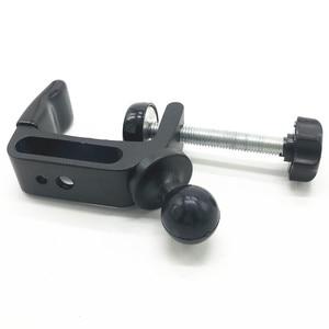 Image 5 - C montaż zacisku gumowa piłka głowy z 1/4 śruba adapter do gopro szyny słupy Bar muzyka mikrofon stoi ram góra
