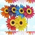 Диаметр 36 СМ Красочные Подсолнечника и Подсолнечное Ветряная Мельница Пластиковые детские Игрушки