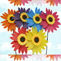 Diameter 36CM Colorful Sunflowers and Sunflower Windmill Plastic Children's Toys