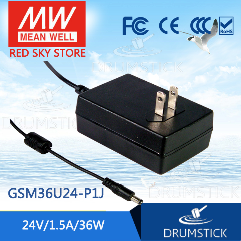 Selling Hot MEAN WELL GSM36U24-P1J 24V 1.5A meanwell GSM36U 24V 36W AC-DC High Reliability Medical Adaptor hot mean well gsm60a12 p1j 12v 5a meanwell gsm60a 12v 60w ac dc high reliability medical adaptor