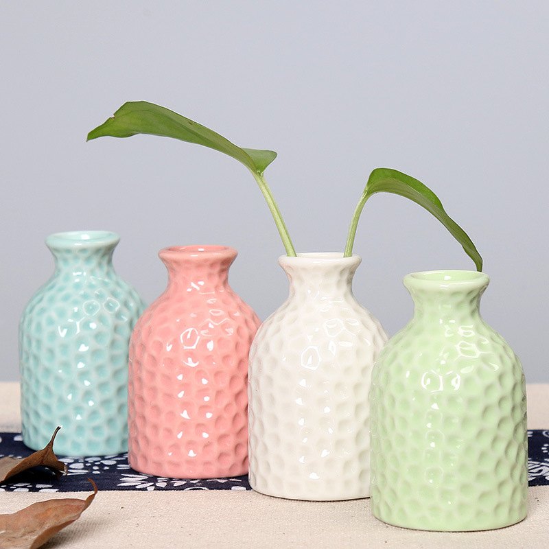 Fresh Mini Ceramic Small Vase Home Decor Gift Ideas And: Simple Ceramic Vase Small Crafts Aromatherapy Bottle