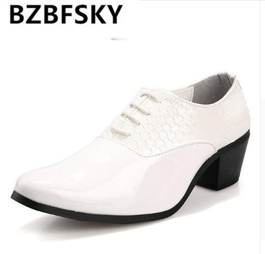 mens knit black party shoes gents man 6cm high heeled plait leather wedding shoes 2.3 inch heighten heel weave dress shoes braid