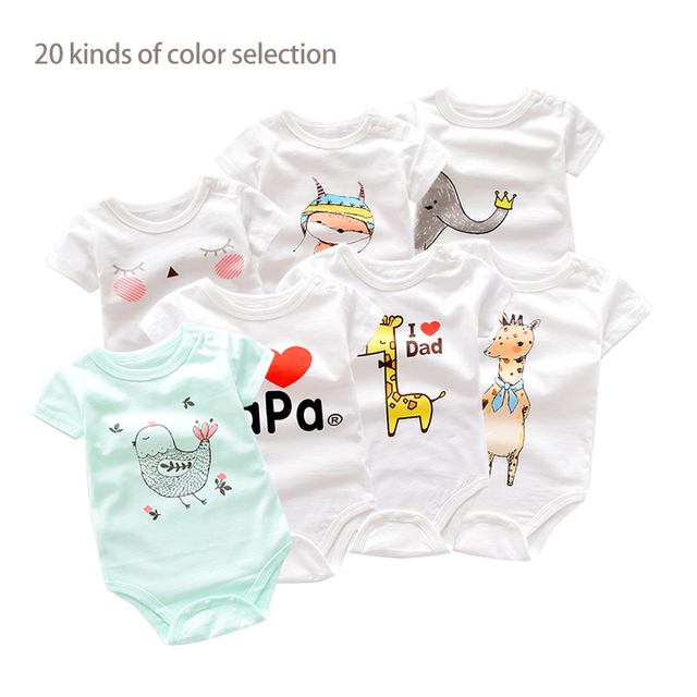 760d92caa7db 2018 baby Clothes Newborn Baby Boy Rompers Overall short Sleeve cotton  infant Babies romper girl Jumpsuit