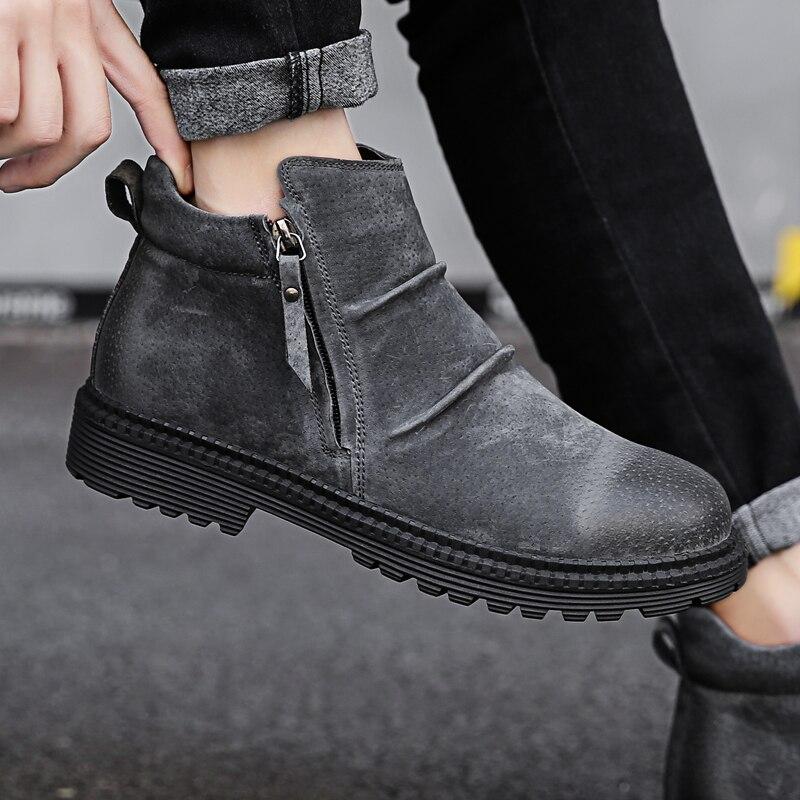 71671e403 Купить Для мужчин ботинки челси ботильоны модные мужской бренд кожа ...