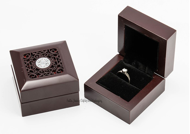 Classical Wooden Ring Box Jewelry Packaging Boxes Ring Storage Boxes