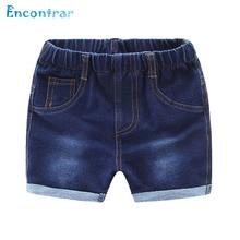 Encontrar Toddler Boys Washing Denim Shorts for Children Solid Jeans Cotton Shorts Kids Casual Summer Beach Shorts 24M-8T,DC151