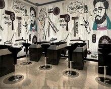 beibehang Custom Wallpaper Nordic Wind Hair Salon Hairdressing Salon Beauty Salon Nail Shop Wallpaper Living Room Bedroom Mural цена 2017